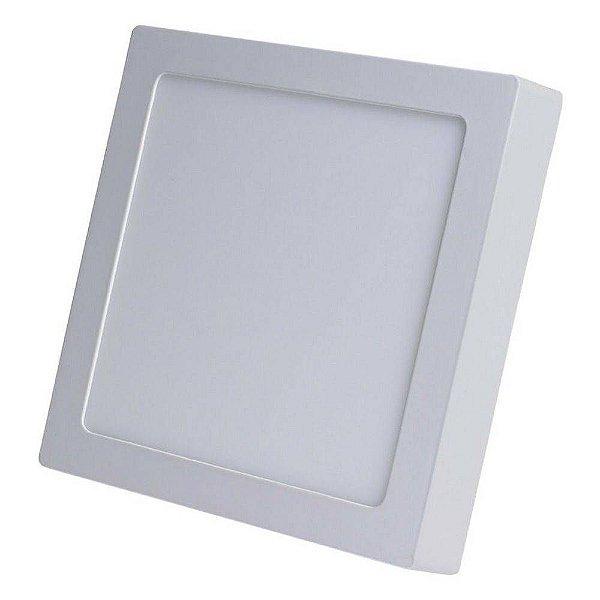 Kit 5 Luminária Painel Plafon Led Sobrepor Quadrado 25w Branco Frio