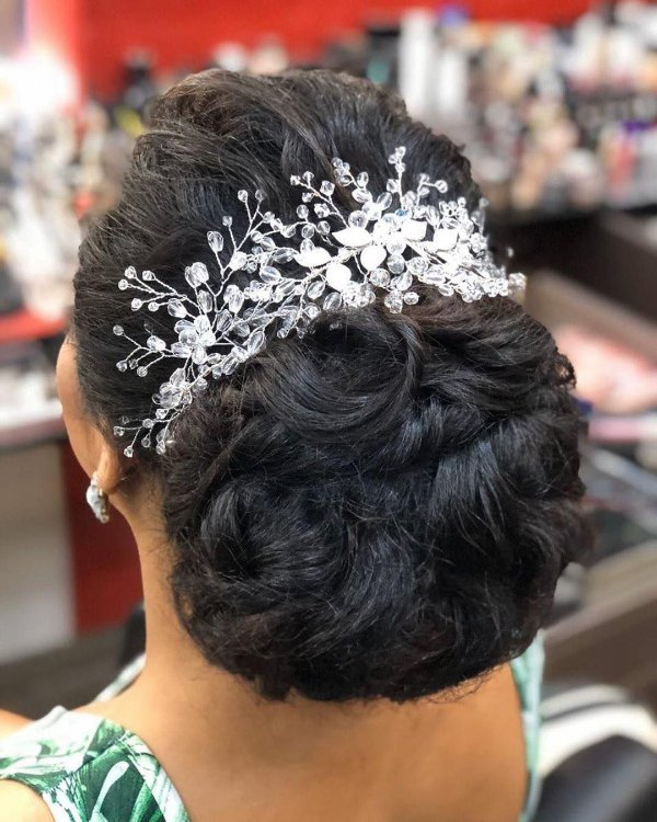 Enfeite arranjo de cabelo para noiva em cristais
