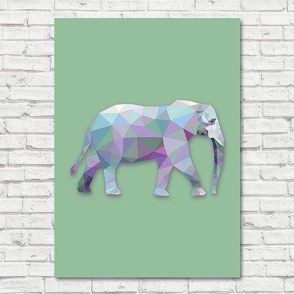 Quadro Elefante Triângulo