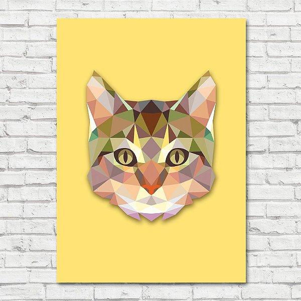 Quadro Gato Triângulo
