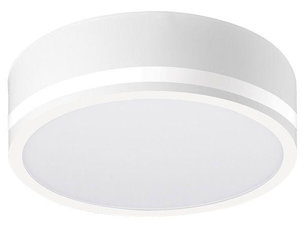 Luminária de Sobrepor Redonda 29cm Visor Lateral