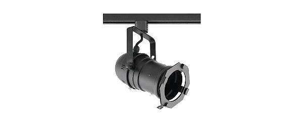 Spot Cênico PAR20/PAR30 E27 Preto com Adaptador para Trilho