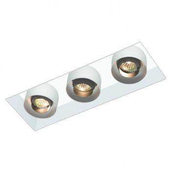 Luminária de Embutir Retangular 16x40cm GU10