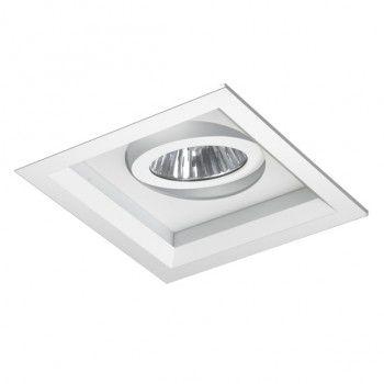 Spot Quadrada 13,5x13,5cm Recuada Foco Direcional
