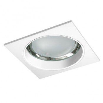 Luminária de Embutir 22x22cm Vidro Recuado.
