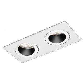 Luminária Embutir Antiofuscante Foco Duplo Recuado Direcional 16x32cm E27
