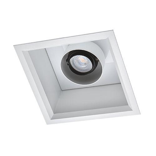 Spot Quadrado Embutir 18,5x18,5cm Duplo Acendimento 2700K