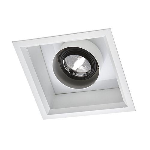 Spot Quadrado 18,5x18,5cm Duplo Acendimento AR70 5W 2700K