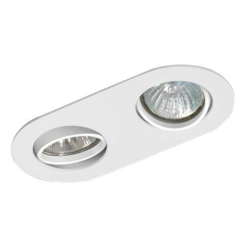 Luminária Oblonga Embutir Foco Duplo Direcional 8,5x17,5cm GU10