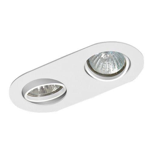 Luminária Oblonga Embutir Foco Duplo Direcional 11x22cm E27