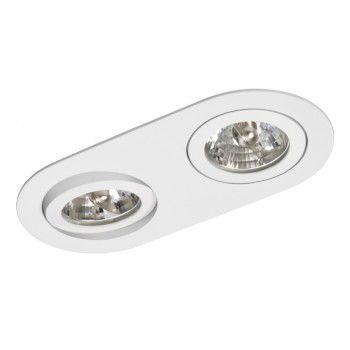 Luminária Oblonga Embutir Foco Duplo Direcional 11x22cm AR70