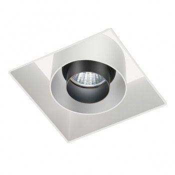 Spot Quadrado Embutir Foco Recuado Multidirecional 15,5x15,5cm
