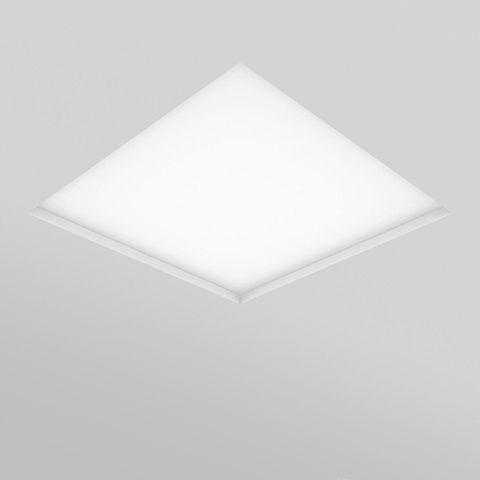 Luminária Quadrada Embutir 60x60cm 4xT5 4W