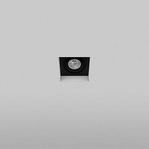 Spot embutido Quadrado 10,5x10,5cm Dicróica 50W