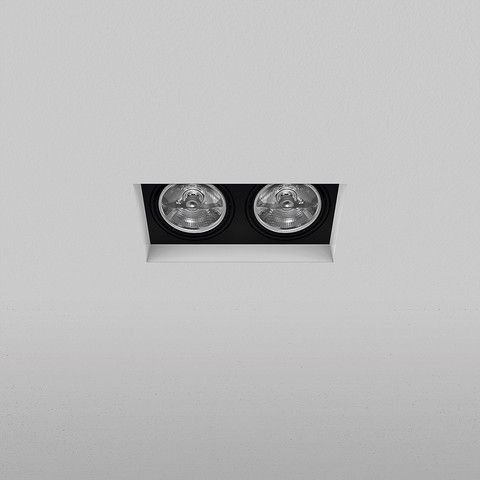 Spot Retangular Embutido 21x10,5cm 2xAR70 50W