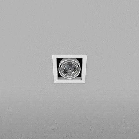 Spot Quadrado Embutido 8,5x8,5cm Minidicróica 35W