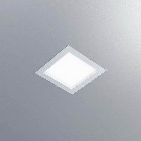 Luminária Quadrada Embutir DAX LED 22,5x22,5cm 12W 1100lm 2700K