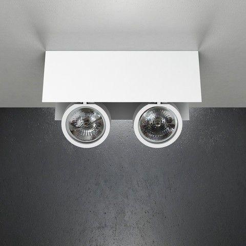 Spot Sobrepor Foco Duplo 36x14x12,5cm 2xAR111 50W