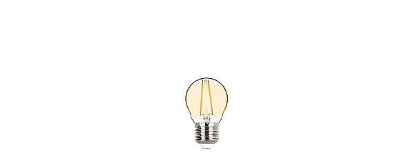 Lâmpada Mini Bulbo Filamento Vintage 2W 200LM E27 Ambar