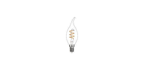 Lâmpada LED Vela Chama Filamento Espiral 2,5W 180LMS 2400K