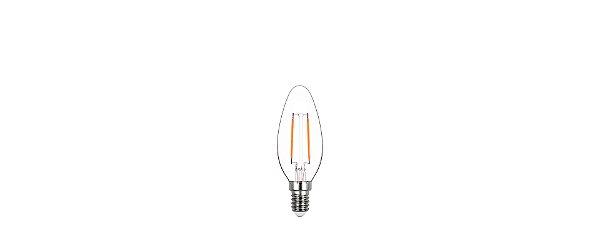 Lâmpada LED Vela Lisa Filamento 2W 200LM E14 2400K