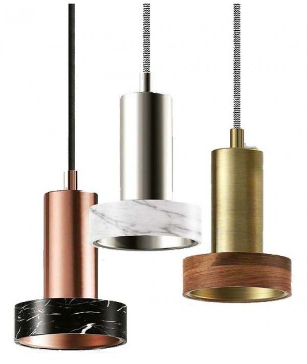 Pendente Aço Metal  7,5x7,5x13cm 1xG9