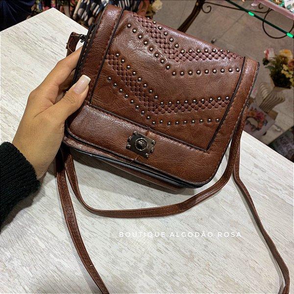 b882ecc46 Bolsinha Lila Marrom - Boutique Algodão Rosa