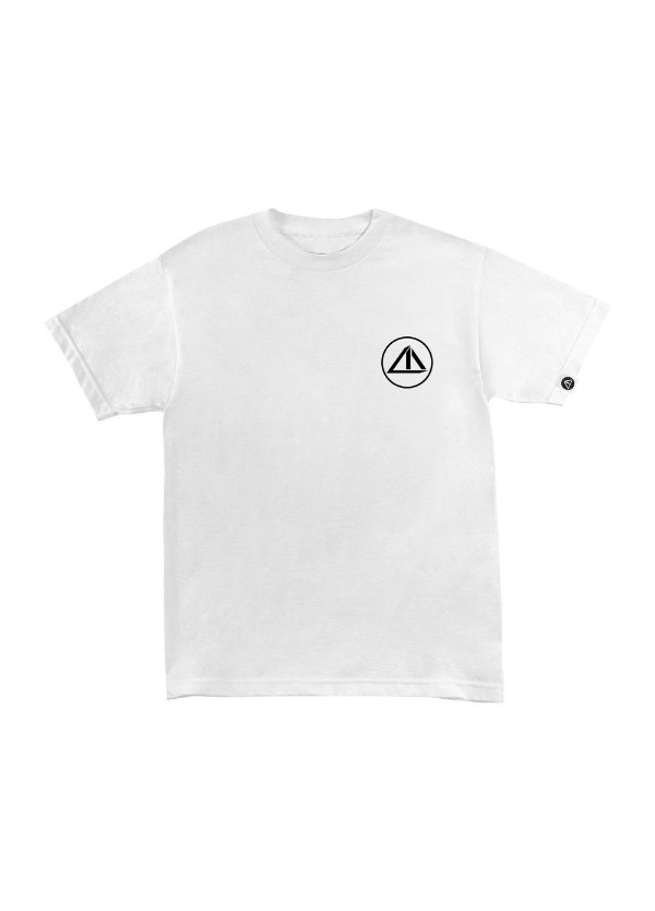 Camiseta Mini Logo Branca com Preto