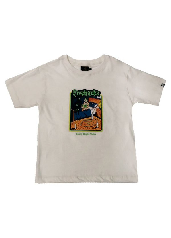 Tee Fivebucks Goosebumps Off White (Brilha no escuro)