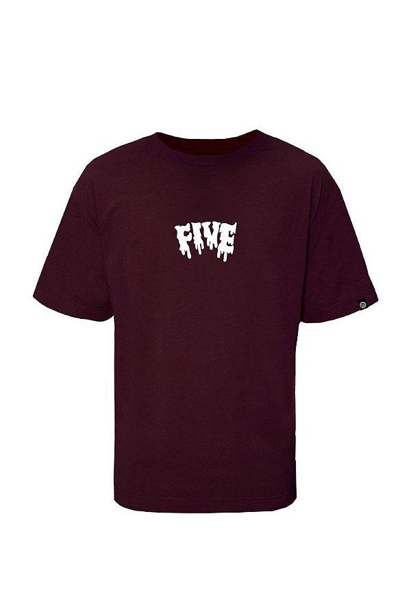 Tee Fivebucks Melted Vinho