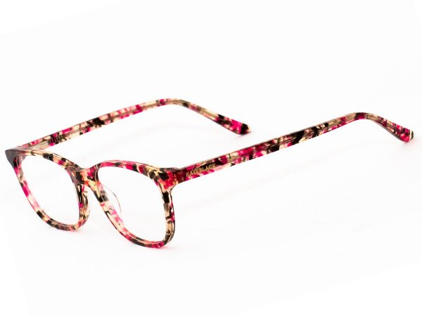 Oculos Armação de Grau Feminino Original Kallblack AF6395 Vermelho