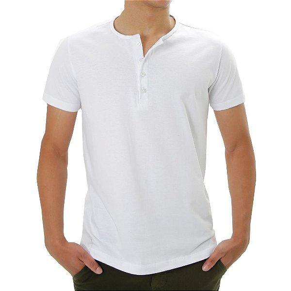 Camiseta Henley Branca