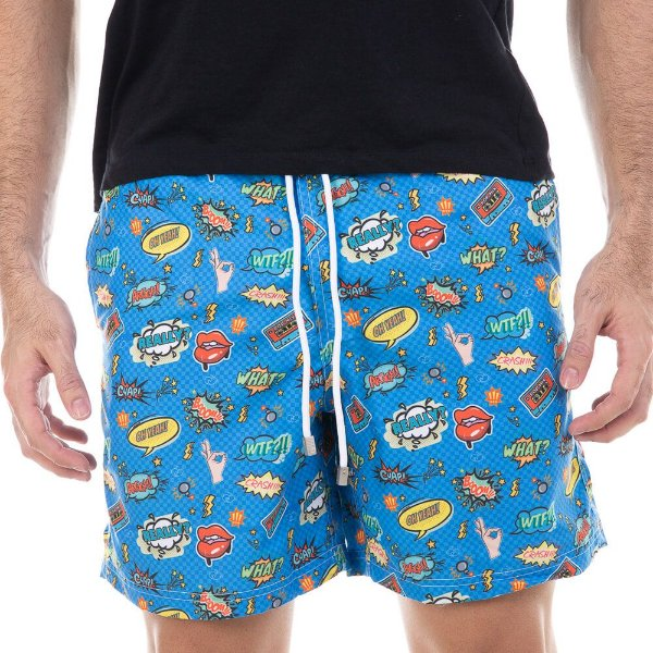 Short Masculino Estampado Pop Art Bidoo