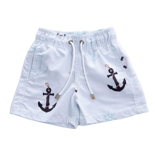 Short Infantil Estampado Âncoras
