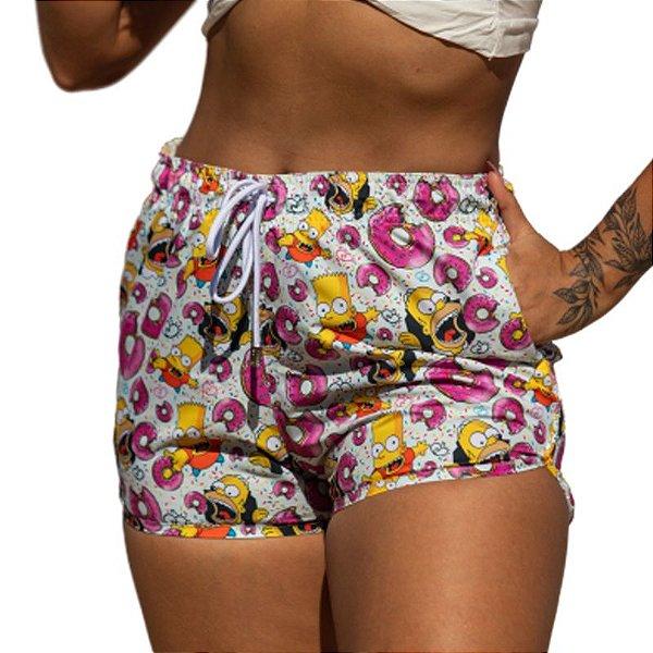 Short Feminino Estampado Os Simpsons