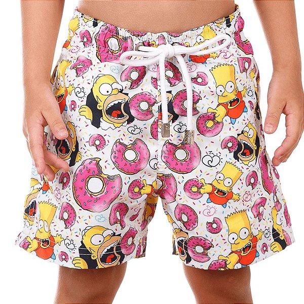 Short Infantil Estampado Simpsons