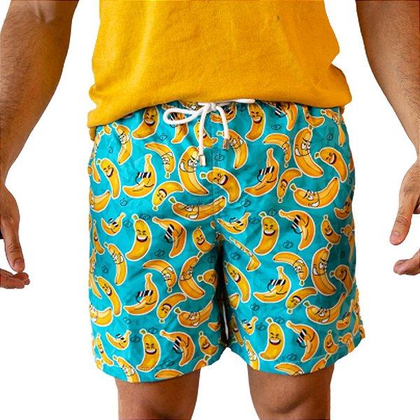 Short Masculino Estampado Banana