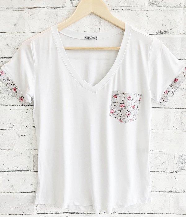 T-SHIRT FULÔ - Bolso floral