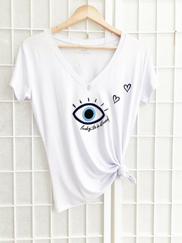 T-Shirt Olho Grego - Blessed