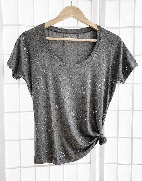 T-Shirt Constelações Dos Signos Mescla