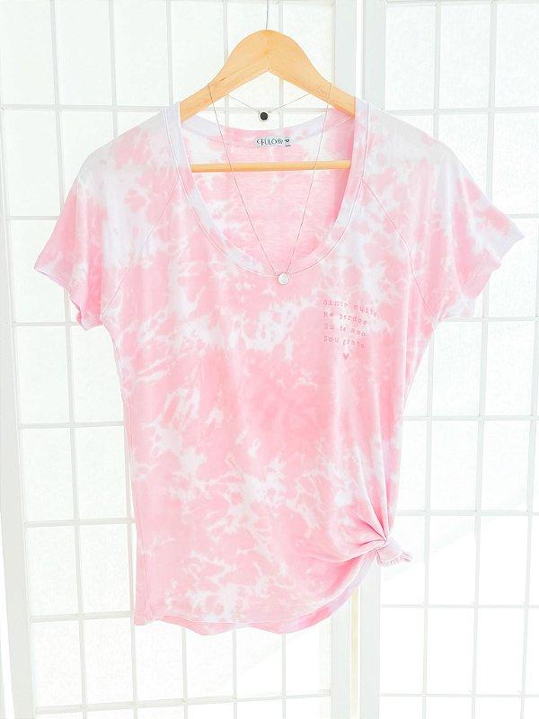 T-Shirt HO'OPONOPONO Tie Dye - Rosa