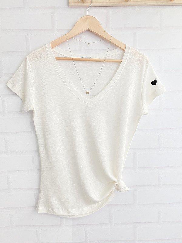 T-Shirt Viscolinho - Off White