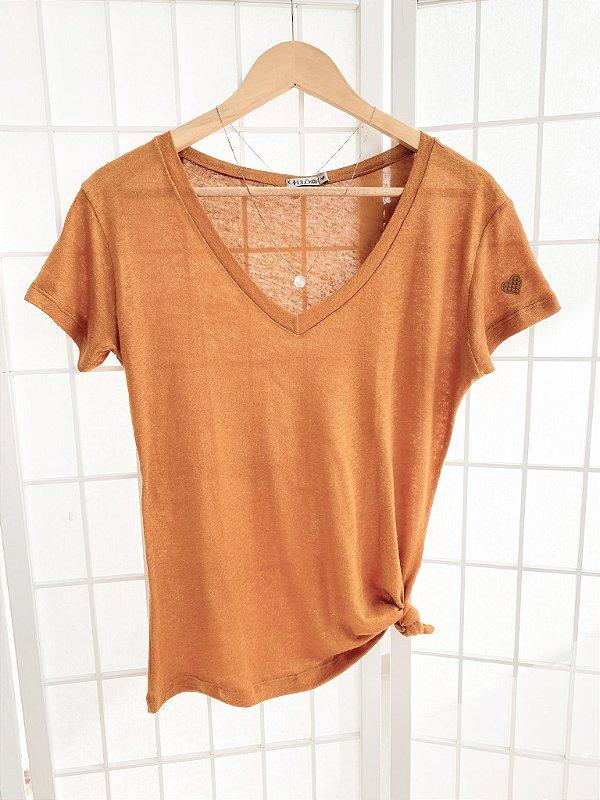 T-Shirt  Viscolinho - Sunflower