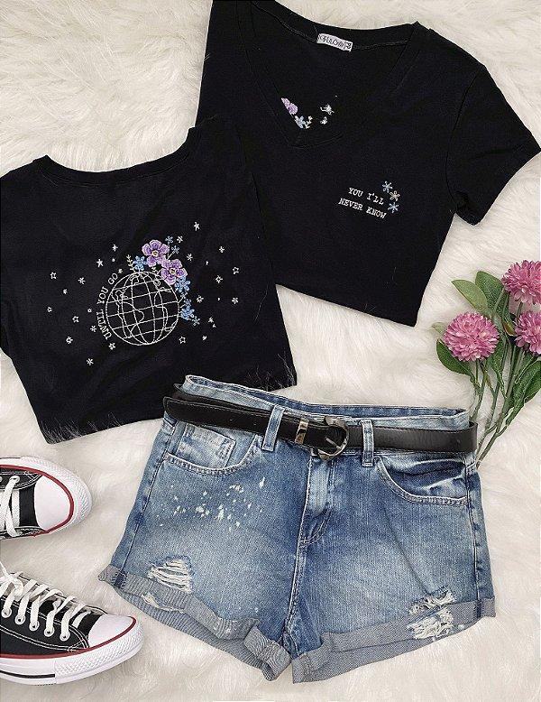 T-Shirt Mundo Florido