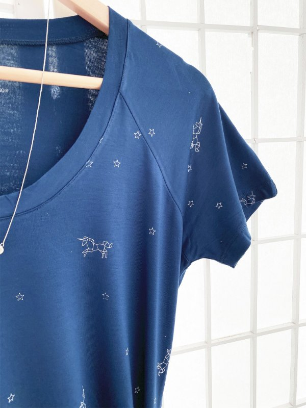 T-Shirt Unicórnios Origami