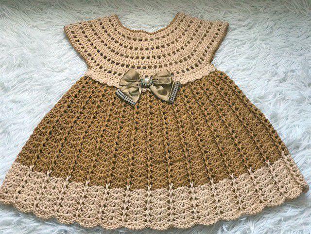 Vestido Crochê Festa