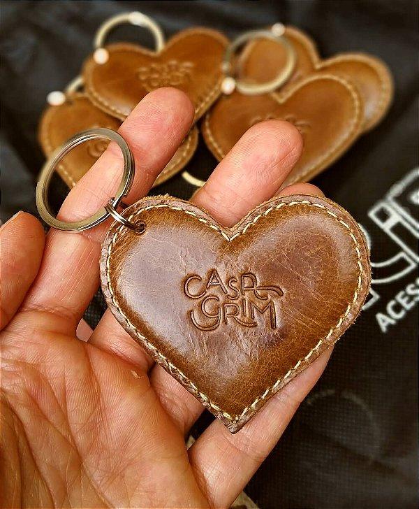 Chaveiro de Coração com Enchimento Personalizado com Logo