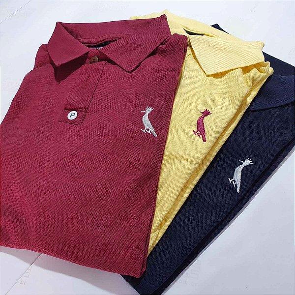 Kit 50 Camisas Polo Básica Masculina - Malha Piquet