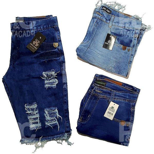 Kit 50 Bermudas Jeans Masculinas Atacado