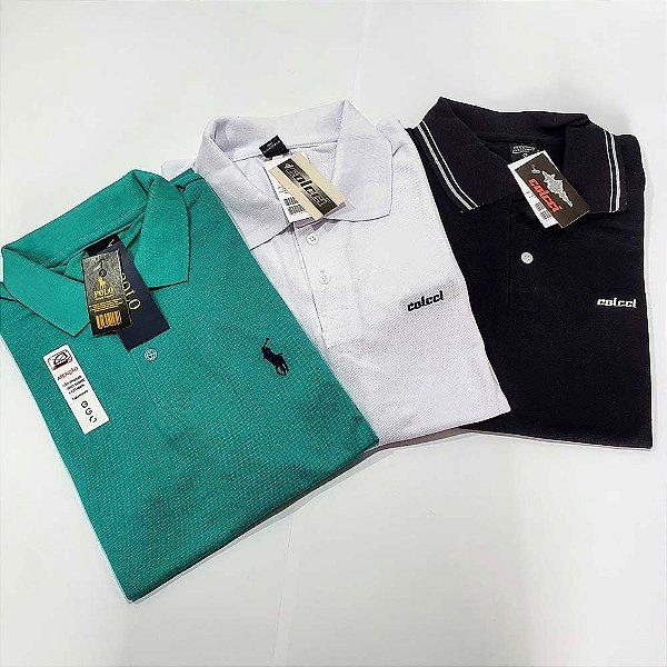 Kit 30 Camisas Polo Atacado Malha Piquet Premium